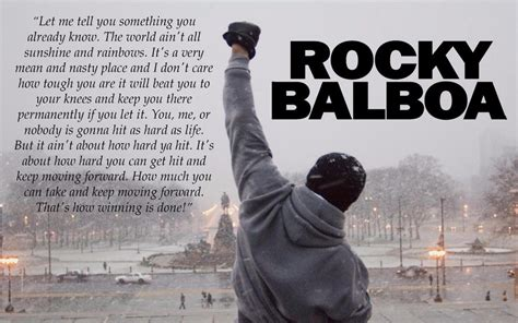 rocky balboa quotes rocky balboa quote new mini poster 24 quot x 16 quot ebay