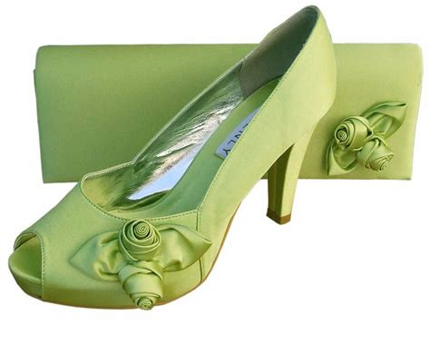 lime green shoes for lime green satin platform shoes matching clutch