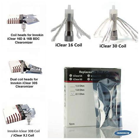 Innokin Iclear 16b Replacement Dual Coil 100 original innokin replacement dual coils for iclear 16 iclear 16b 16d iclear 30 iclear