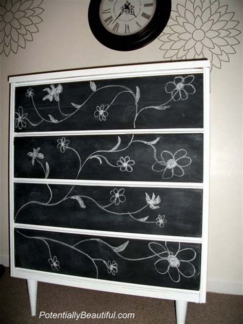 blackboard paint diy modern furniture decoration in black and white