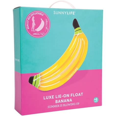 luchtbed luxe sunnylife luxe luchtbed banaan
