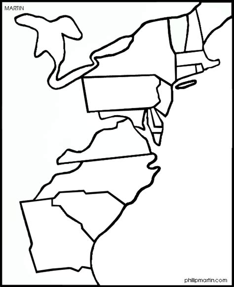 Coloring Page 13 Colonies Map by Pictures Of The Thirteen Colonies Cliparts Co