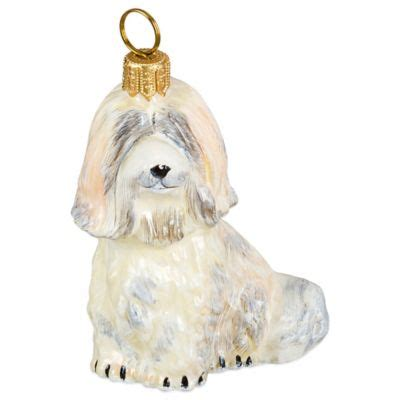 satin havanese buy white tree ornaments from bed bath beyond