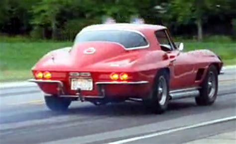 fox valley corvette club 1967 corvette sting burnout at bloomington