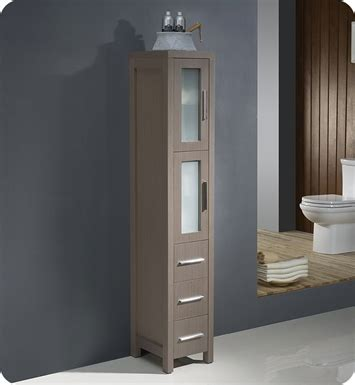 tall bathroom linen cabinet fresca fst6260go torino tall bathroom linen side cabinet