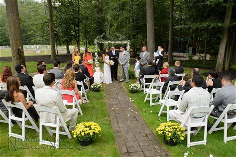 back garden wedding intimate garden wedding new jersey nj wedding photography