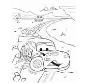 Saetta McQueen Corre Sulla Pista Disegno Per Bambini