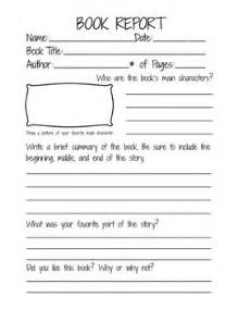 fourth grade book report template search results for templates for 4th grade book reports