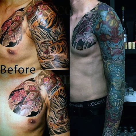tattoo sleeve cover up 50 cover up sleeve design ideas for manly ink