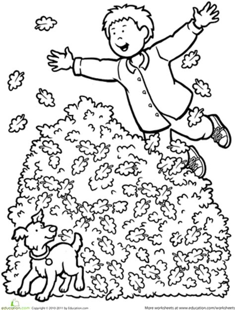leaf pile coloring page 10 best images of fall leaves worksheets pile of fall