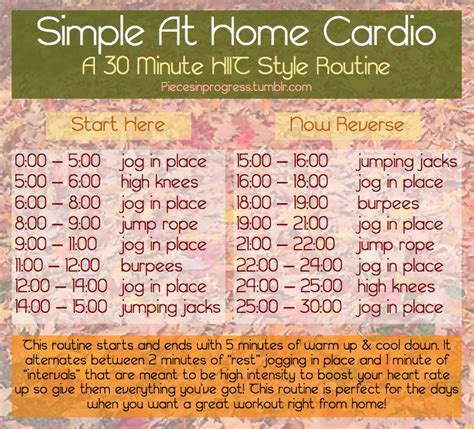 simple at home cardio a 30 minute hiit style pieces