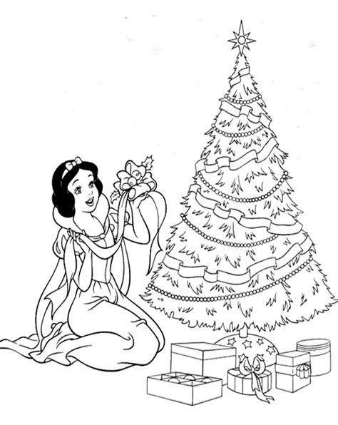 christmas coloring pages disney princess disney princess and tree christmas coloring page