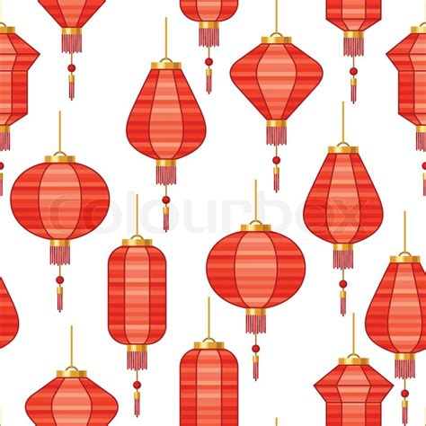 new year lantern clipart new year seamless pattern with lanterns stock
