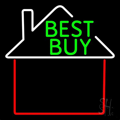 best buy house real estate best buy house logo neon sign real estate neon