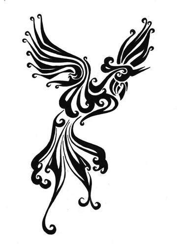 漂亮简单的凤凰图腾纹身手稿 漂亮简单的凤凰图腾纹身手稿图片 高清图片大全 图库 回车桌面