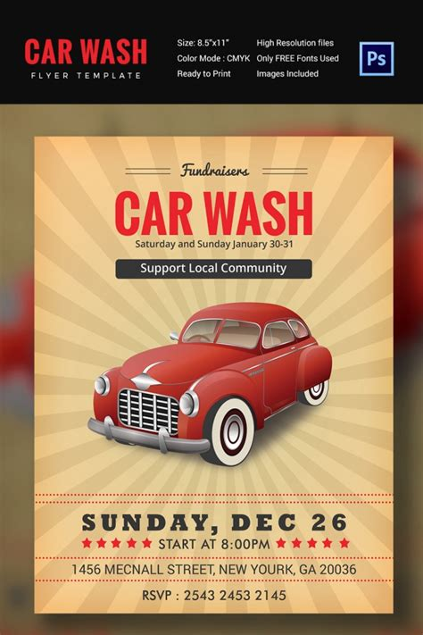 Car Wash Flyer 48 Free Psd Eps Indesign Format Download Free Premium Templates Car Wash Flyer Template Free
