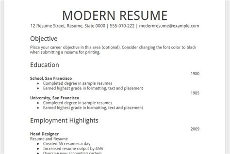 Resume Format In Docs Doc Resume Template Out Of Darkness