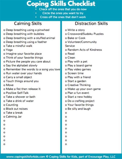 Seeking Safety Worksheets by Coping Skills List Pictures To Pin On Pinsdaddy