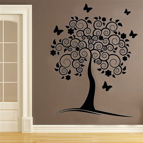 removable wall decals for living room vinyl removable wall decals swirl flower tree wall decor