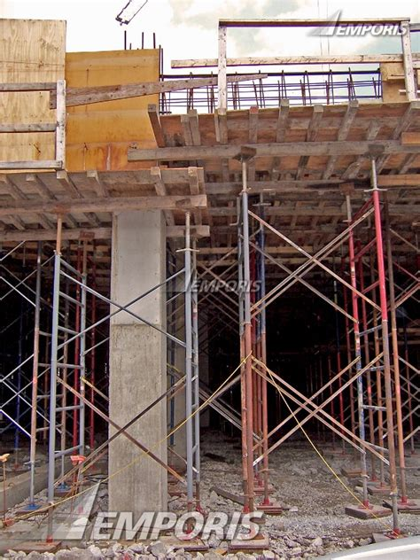 Second Floor Slab Thickness by Looking Into The Scaffolding In Place For The Second Floor