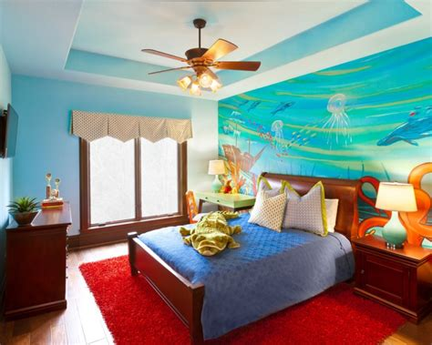Ocean Themed Home Decor by 18 Kids Bedroom Mural Designs Ideas Design Trends