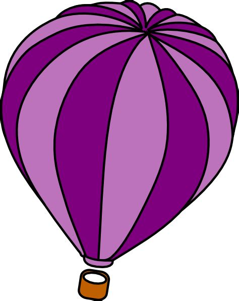 Hot air balloon purple clip art at clker com vector clip art online royalty free amp public domain