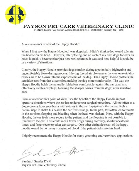 Recommendation Letter For Veterinary Student Happy Hoodie Veterinarians It