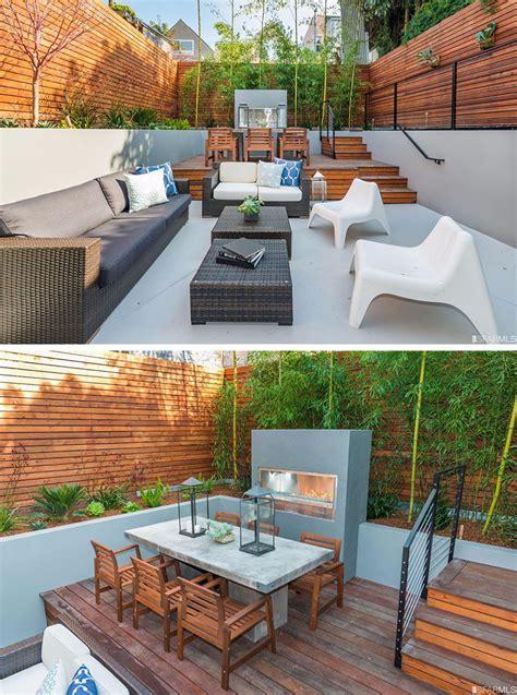 backyard design idea  multiple levels  define