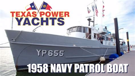old navy boat for sale 1958 converted 80 navy patrol boat for sale at texas