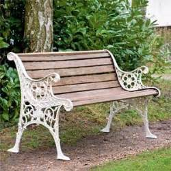 garden bench slats restored edwardian garden bench with wooden slats and cast iron frame gardens and