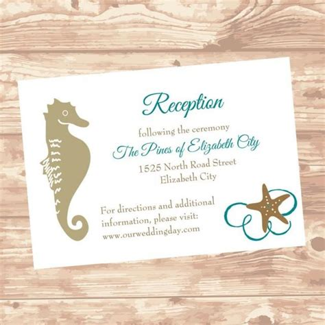 diy wedding direction cards template 2 to a page wedding reception or information insert card diy template
