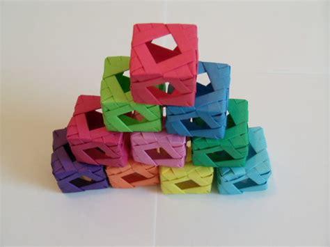 Modular Cube Origami - window cube modular origami