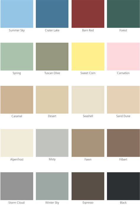 color selection ace paint color cards paint color ideas