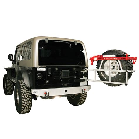 swing away spare tire carrier or fab 86201bb swing away spare tire carrier 97 06 tj