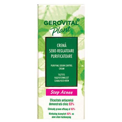 7 Must Try Products From Gerovital Plant by Gerovital Plant Stop Acnee Crema Sebo Reglatoare 50ml