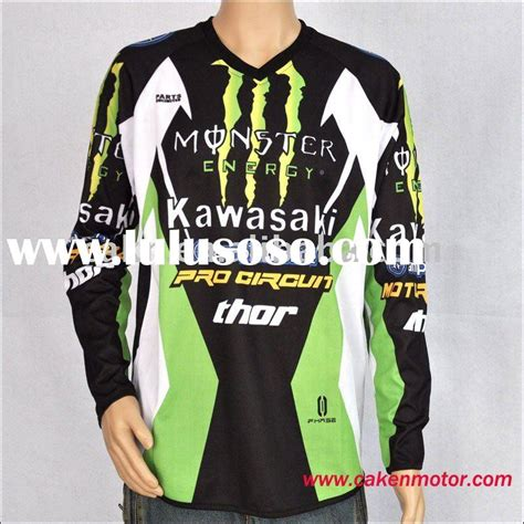 kawasaki motocross jersey piranha z racing apparel racing wear piranha z racing