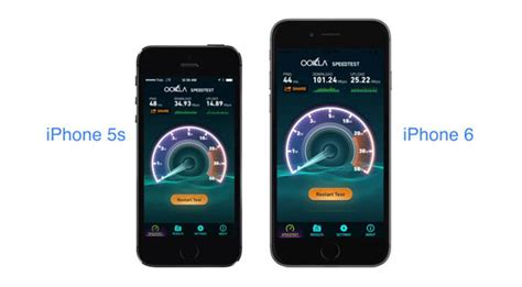 iphone 6 and iphone 5s lte speeds compared