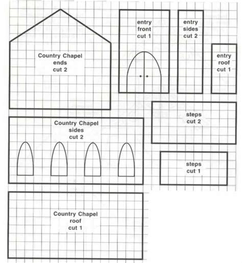 Gingerbread House Patterns Templates by Template For A Gingerbread House In The Shape Of A