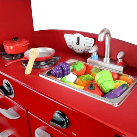 pretend kitchen furniture promotion online shopping for teamson kids 1 piece play kitchen in red td 11414r