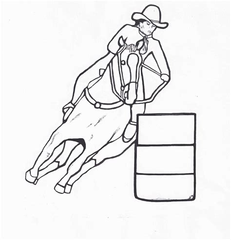 coloring pages of horses barrel racing barrel racing coloring pages