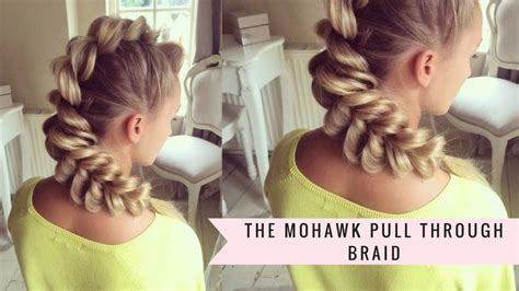 how to add weave to a mohawk mohawk pull through braid by sweethearts hair youtube
