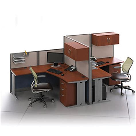 2 person office furniture two person l desk workstation set 75487 and more office