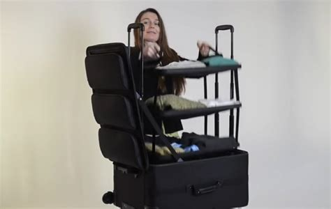 suitcase with shelves a new way to pack take your shelves with you economy