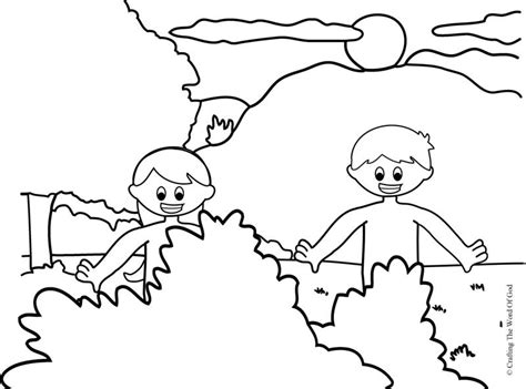 coloring page for adam and eve adam and eve 171 crafting the word of god