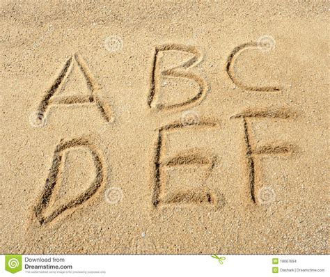Letter In The Sand Alphabet Letters In Sand On Stock Images Image 18667694