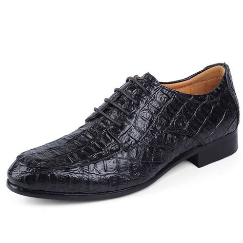 style alligator leather shoes dress shoes