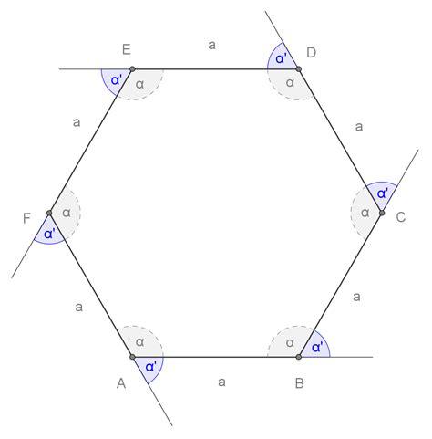 somma angoli interni di un poligono esagono regolare openprof