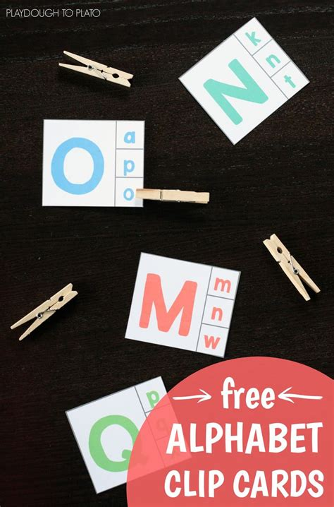printable alphabet playing cards alphabet clip cards preschool activities literacy and