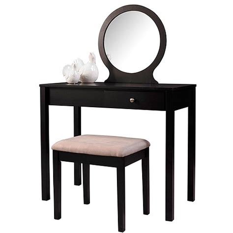 home decor vanity linon home decor vanity set black walmart