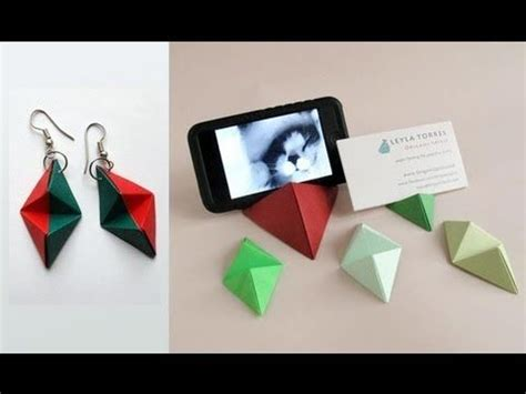 Origami Name Card - origami pyramid business card stand base para